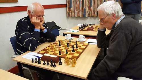 Jan Wouters (links) boekte een fraaie zege